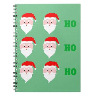 Santa Claus Ho Ho Ho Notebooks