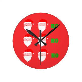 Santa Claus Ho Ho Ho Round Clock