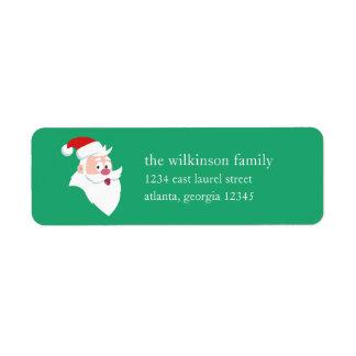Santa Claus   Holiday Label