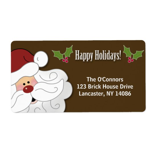 Santa Claus Holiday Sticker / Address Label