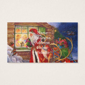 Santa claus illustration - christmas illustrations business card