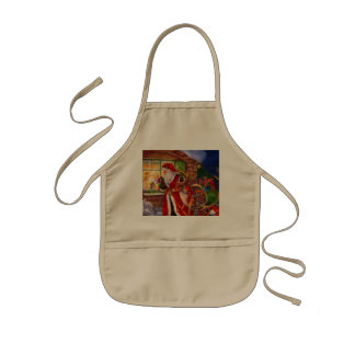 Santa claus illustration - christmas illustrations kids apron