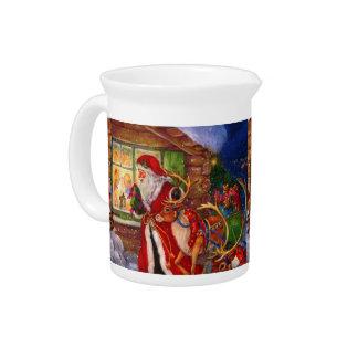 Santa claus illustration - christmas illustrations pitcher
