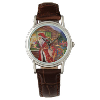 Santa claus illustration - christmas illustrations watch