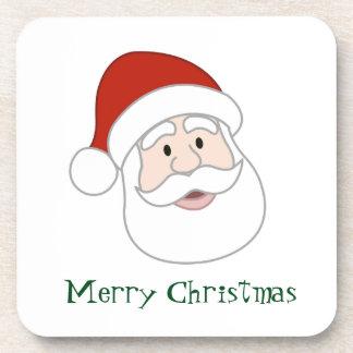 Santa Claus Illustration & Text Coasters