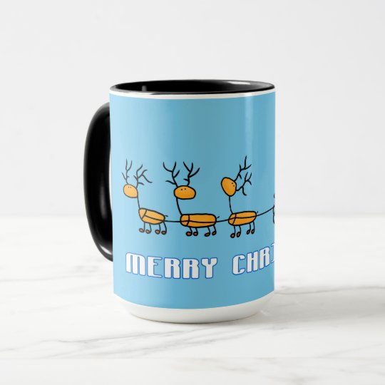 Santa Claus in his Sled with Reindeers Mug