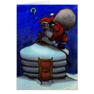 Santa Claus in Mongolia Card
