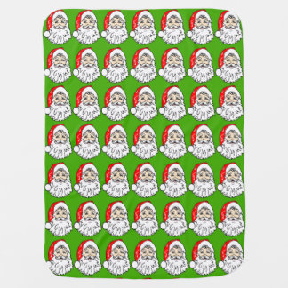 Santa Claus in Red Hat Pattern Baby Blanket