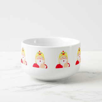 Santa Claus in the chicken hat, thumbs, Christmas Soup Mug