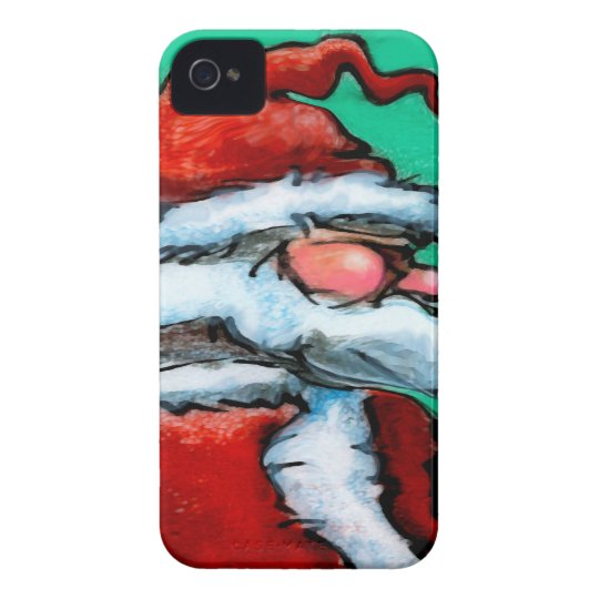 Santa Claus iPhone 4 Case-Mate Case