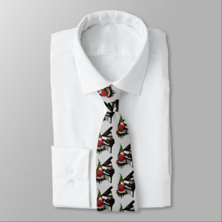 Santa Claus Is A Great Piano Player Tie