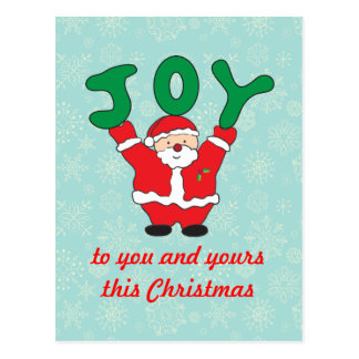 Santa Claus Joy Christmas Postcard