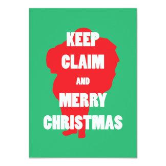 Santa Claus Keep Claim and Merry Xmas Invitation