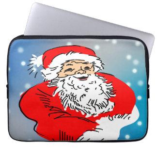 Santa claus laptop computer sleeve