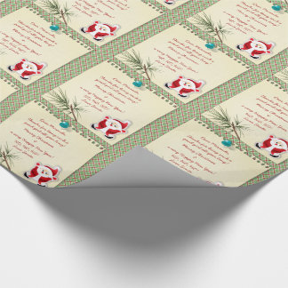 Santa Claus Letter from Santa Christmas Wrapping Paper