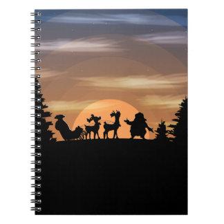 Santa Claus lost Spiral Notebook