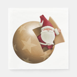 Santa Claus Luncheon Paper Napkins