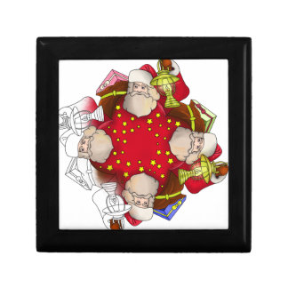 Santa Claus Mandala Gift Box