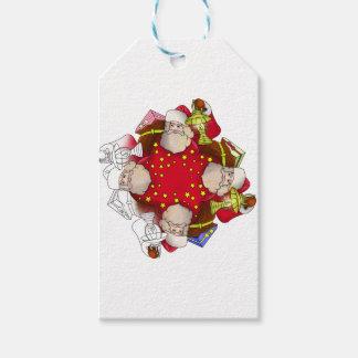 Santa Claus Mandala Gift Tags