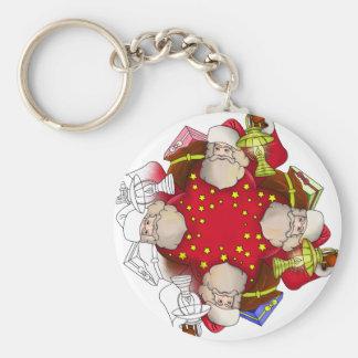 Santa Claus Mandala Key Ring