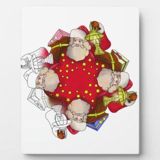Santa Claus Mandala Plaque