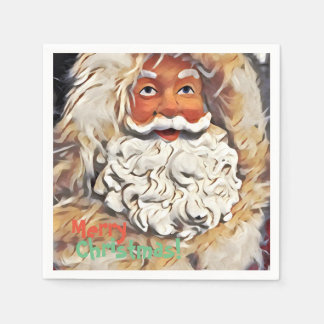 Santa Claus Merry Christmas Art Disposable Napkins
