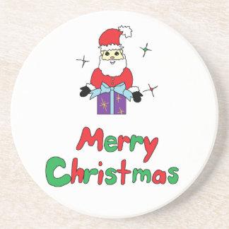 Santa Claus Merry Christmas Coasters