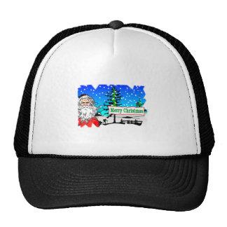 Santa Claus Merry Christmas Mesh Hats