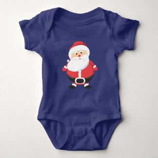 Santa Claus Merry Christmas Holiday season Baby Bodysuit