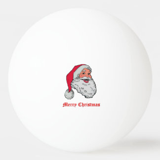 Santa Claus Merry Christmas Ping Pong Ball