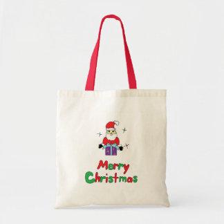 Santa Claus Merry Christmas Budget Tote Bag