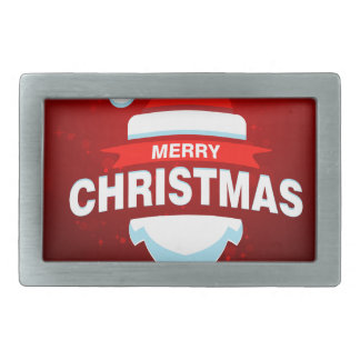 Santa Claus Merry Christmas Xmas Cute Red Belt Buckle
