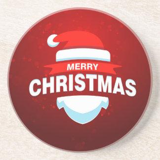 Santa Claus Merry Christmas Xmas Cute Red Beverage Coasters