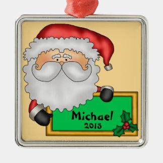Santa Claus Message Personalized Metal Ornament