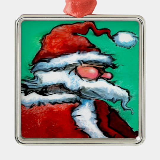 Santa Claus Metal Ornament