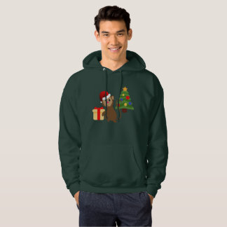 santa claus monkey emoji mens hooded sweatshirt