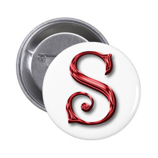 Santa Claus Monogram Initial Christmas Holidays 6 Cm Round Badge