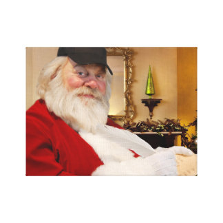 Santa Claus naughty and nice list canvas print