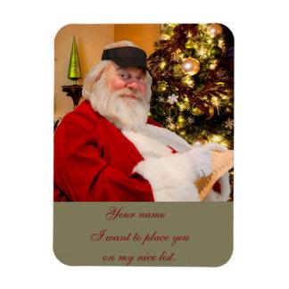 Santa Claus nice list magnet