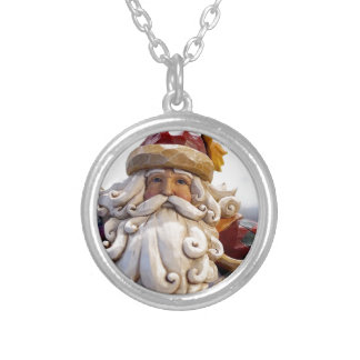 Santa Claus Nicholas Christmas Christmas Time Silver Plated Necklace
