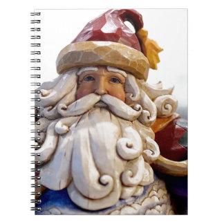 Santa Claus Nicholas Christmas Christmas Time Spiral Notebook