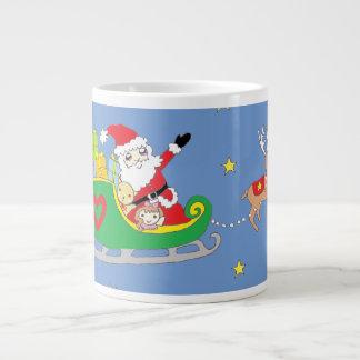 Santa Claus on Christmas Night Jumbo Mug