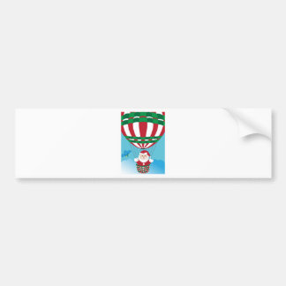 Santa Claus on hot air balloon Bumper Sticker