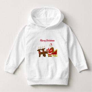santa claus on the christmas sleigh hoodie