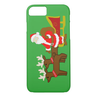 santa claus on the christmas sleigh iPhone 8/7 case
