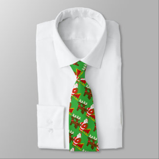 santa claus on the christmas sleigh tie