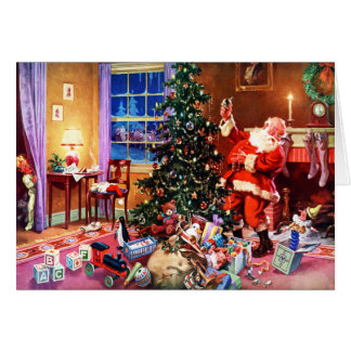 Santa Claus on the Night Before Christmas Greeting Card