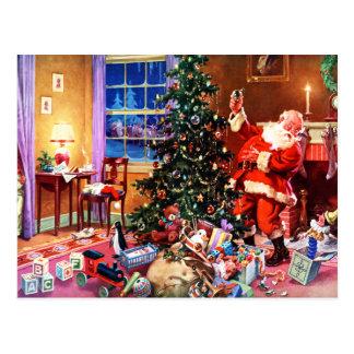 Santa Claus on the Night Before Christmas Postcard
