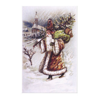 Santa Claus on the Way Canvas Print