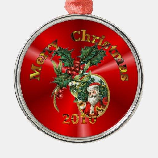 Santa Claus ornament framed